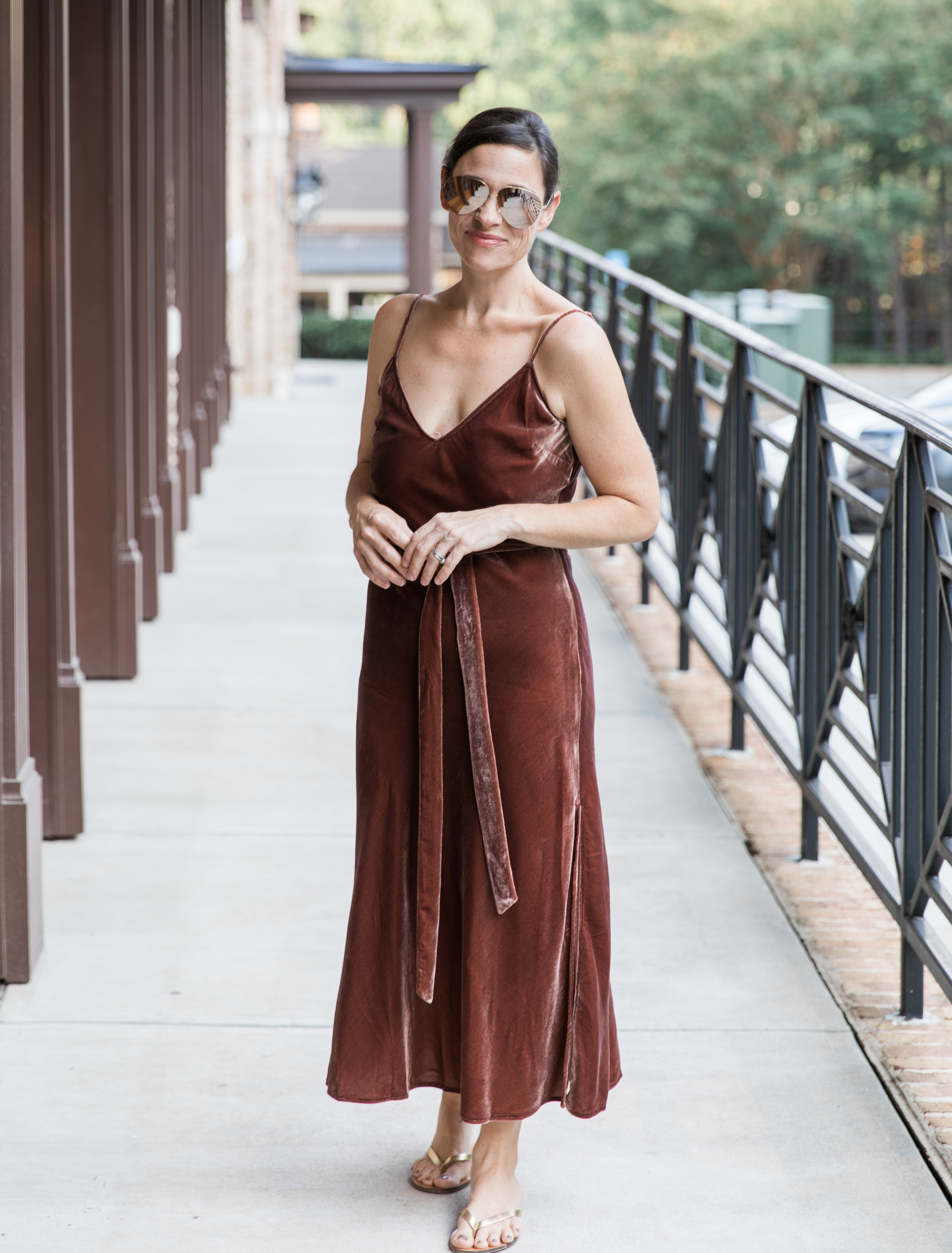 Frame Velvet Multitasking Dress