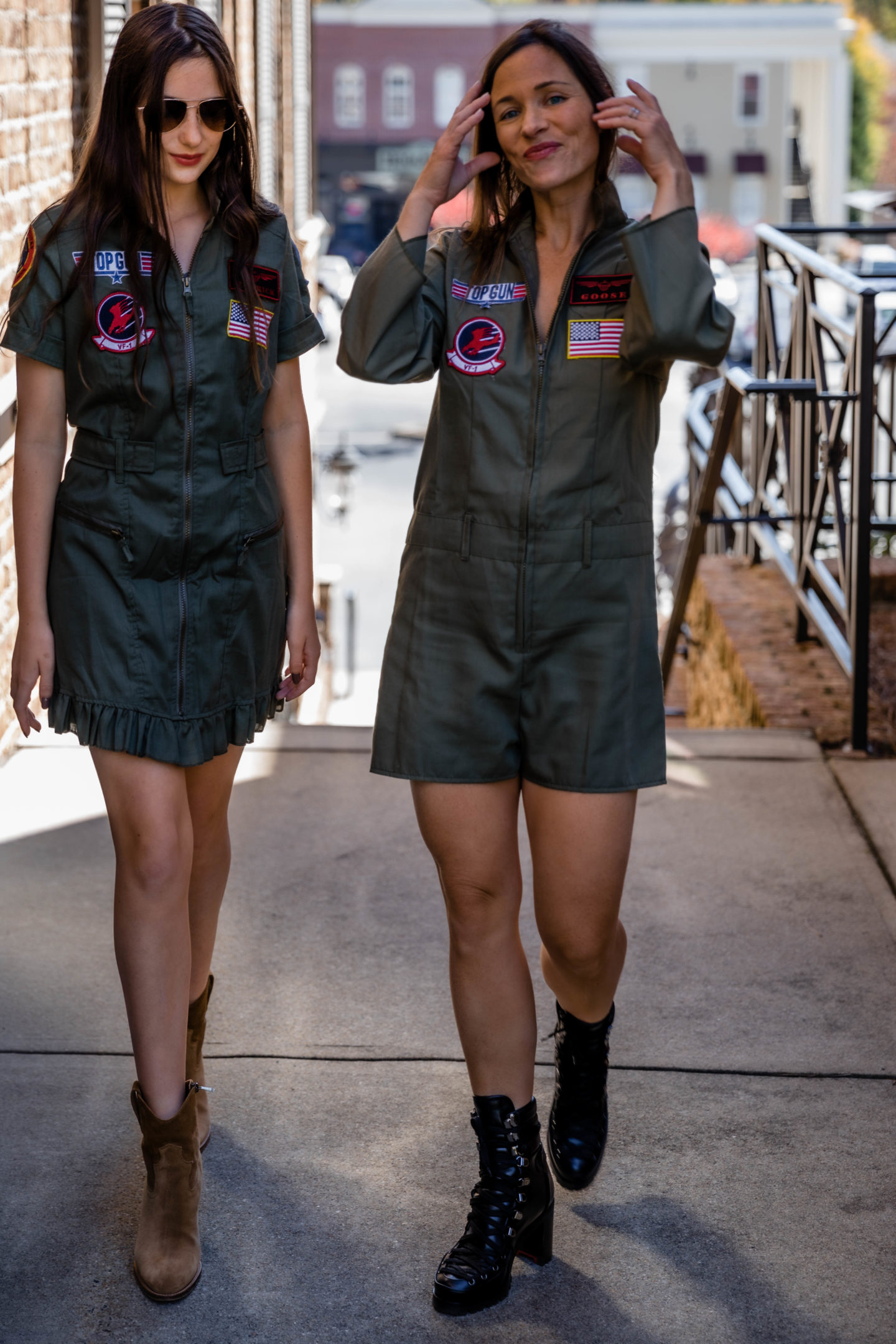 Maverick and Goose Top Gun Flight Suits Halloween